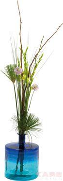 Vase Bicolor Aqua 45cm