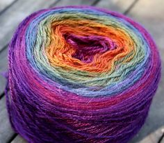 Gradient yarn by Tri'Coterie. Don't Stray from the Path.