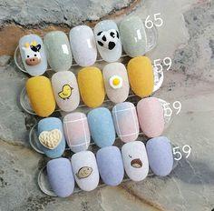 Cute Acrylic Nails, Acrylic Nail Designs, Cute Nails, Pretty Nails, Kawaii Nail Art, Anime Nails, Nail Drawing, Vintage Nails, Dream Nails