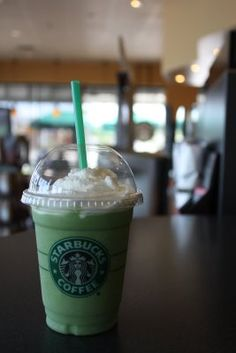 happiness is an icy cold green tea frappuccino...