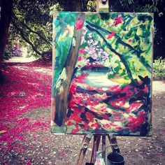 Rod Coyne's Avoca Painting School workshop, April Kilmacurragh Painting Workshop is quality time in Wicklow's Botanical Gardens. Outdoor Paint, Painting Workshop, Pink Petals, Canvas Paper, Painting Process, Day Work, Stay The Night, Quality Time, Botanical Gardens