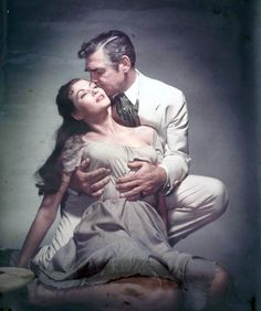 Clark Gable, Yvonne de Carlo, Band of Angels, 1957. This was probably just a promo image for the film, but it has great emotional power in it.