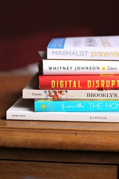Minimalist Parenting, Digital Disruption, and The Honest Life all sound interesting.