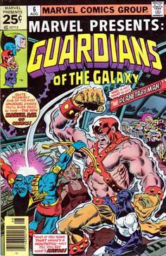 Marvel Presents #6 Marvel Presents was an American comic book anthology series published by Marvel Comics. Twelve issues were published from October 1975 to August 1977.  Marvel Presents began publication with an October 1975 cover date. The first two issues featured Ulysses Bloodstone. It is most notable for giving the Guardians of the Galaxy their first regular series, from issues #3 to #12, by Steve Gerber and Al Milgrom with Roger Stern replacing Gerber as writer as of issue #10.