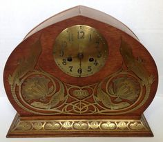 Erhard und Söhne Jugendstil clock around 1900.