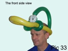 Balloon-O-Therapy Twisting Balloons with FewDoIt: How To Make Balloon Duck Hat | Balloon Bird Hat