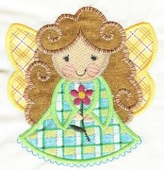 Angel 4 Applique - 2 Sizes! | Angels | Machine Embroidery Designs | SWAKembroidery.com Designs by Juju
