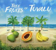 Tuvalu 2015 MNH Tree Fruits 6V M s Coconut Papaya Banana Trees   eBay