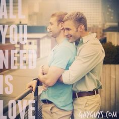 Love is the only thing you need. And you only need one person to spend it with. #truelove #gaylove