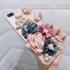 3D Fashion Flower Phone Case for iPhone 5s SE 6s 7 Plus Bow Lipstick for Samsung S6 S7 Edge Note 3 4 5 Hard Back Case for Girl