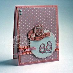 Greeting Card  Brand New Sweet Baby Girl for by JanTink on Etsy