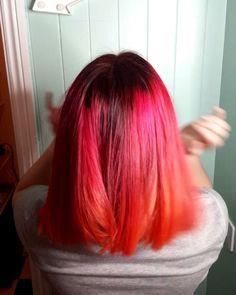 pink and orange hair