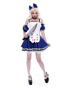 Sexy Alice Wicked Wonderland Adult Costume,$25.96
