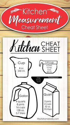 Free Kitchen Cheat Sheet