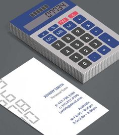 Retro Calculator: Business Cards for accountants, bookkeepers, mathematicians, maths tutors. Remind new clients with these stand-out depictions of classic calculators that maths isn't hard - it's all just a matter of numbers. #moocards #luxebymoo #businesscards