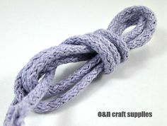 Braided 55mm cotton cord lavender 3 meters by OandN on Etsy, $1.90