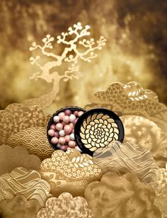 Paper Artist Virginie Brachet for Guerlain - les météorites Makeup Photography, Still Life Photography, Cosmetic Photography, Product Photography, Beauty Shop, My Beauty, Christmas Editorial, Bottle Drawing, Cosmetic Design