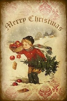 Christmas cards began as a tradition along with everything else, around the time of the Civil War. Merry Christmas, Christmas Scenes, Christmas Greetings, Christmas Mantles, Christmas Postcards, Christmas Villages, Christmas Christmas, Vintage Christmas Images, Victorian Christmas