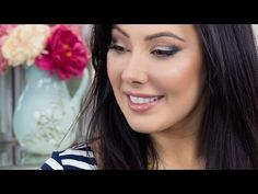 Neutral Makeup with Pop of Blue | Makeup Geek - YouTube
