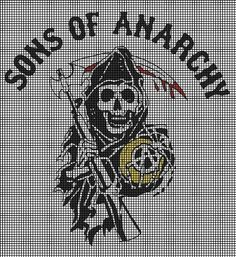 sons of anarchy hama beads Pixel Crochet, Crochet Chart, Sons Of Anarchy, Bead Loom Patterns, Cross Stitch Patterns, Hama Beads, Cross Stitching, Cross Stitch Embroidery, Graph Paper Art