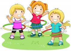 Girls Playing Hula Hoops Stock Photo, Picture And Royalty Free Image. Cartoon Pics, Cute Cartoon, Music Notes Decorations, School Murals, Sports Day, Pencil And Paper, Jouer, Happy Kids, Primary School