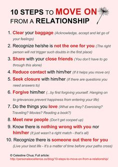 10 Steps To Move On From A Relationship
