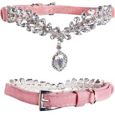 WwWSuppliers Cute Small PU Leather Suede Crystals with Diamond Pendant Luxury Collar for Dogs  Puppies Adjustable Fashion Collar Small 9 1212 12 Pink ** Check out the image by visiting the link.(This is an Amazon affiliate link and I receive a commission for the sales)