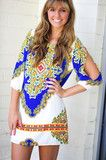 Play Me A Song Dress: White/Multi