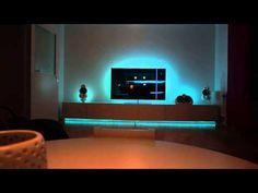 6 Gorgeous Philips Hue Light Set Ups - Hue Home Lighting Home Automation Software, Home Automation System, Smart Home Automation, Living Room Lighting, Home Lighting, Lighting Ideas, Wall Lighting, Rustic Kitchen Faucets, Phillips Hue Lighting