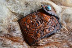 Купить Джент стиль брутальный кошелек - кошелек, кошелек купить, портмоне мужской, коричневый, кожа