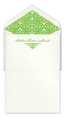 White Ornamental Scroll Letter Sheets