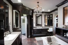 Love dark colors for bathrooms