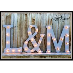Wedding Marquee Wood Lighted Letters, and ampersand for your special day.  In the comment section add which 2 letters you would like with your ampersand