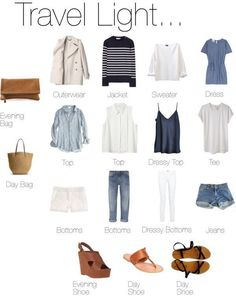 Packing Light Packing clothes for travel Travel Wardrobe, Capsule Wardrobe, Men's Wardrobe, Summer Outfits, Casual Outfits, Travel Outfit Summer, Summer Travel, Summer Dresses, Packing Clothes