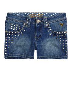Studded Denim Shorts | | Shop Justice