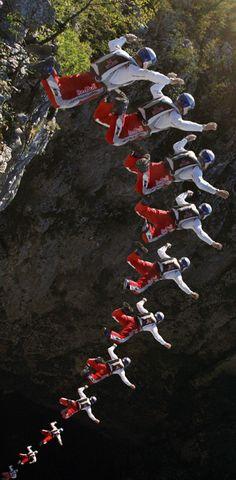 Felix Baumgartner B.A.S.E. jump #redbull