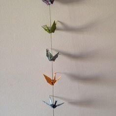 Guirlande origami grues en papier japonais