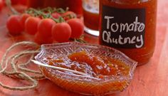 Tomato Chutney super home made gift Tomato Chutney, Chutney Recipes, Homemade Gifts, Preserves, Stew, Salsa, Spices, Food And Drink, Cooking Recipes
