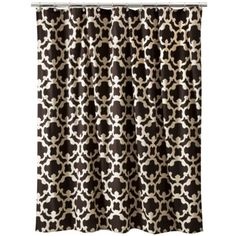 Threshold™ Grid Shower Curtain - Brown   MOM: this shower curtain would be perfect and this print it in style right now!
