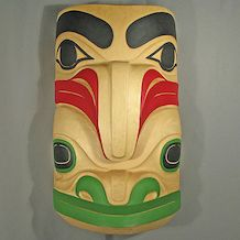 Raven and Frog Mask by Garner Moody, Haida Native Artist - $4,000.00
