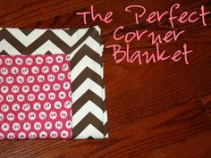 love this tutorial on how to finish a baby blanket. SUPER easy to make a bunch of cute receiving blankets for a shower gift! :)