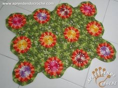 Tapete de Croche Flor Pipoca - Aprendendo Crochê - YouTube