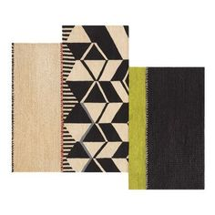 "GAN RUGS Space Rustic Chic Hand-Woven Beige/Black Area Rug Rug Size: 8'10"" x 11'1"""