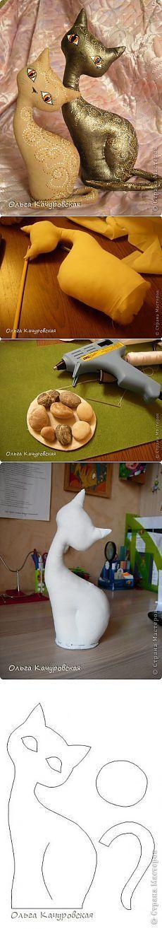gato café increíble por Olga Kachurovskii. Clase magistral.