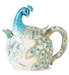 Peacock Teapot. I got this at a wedding shower <3