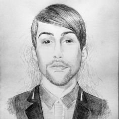 Lazy drawing of @mitchgrassi ✌ took about 1 and 1/2 hours. {#art #drawing #illustration #sketch #portrait #worldofartists #arts_help #supportgallery #ptxart #ptx #pentatonix #mitchgrassi #mitchgrassidrawing}