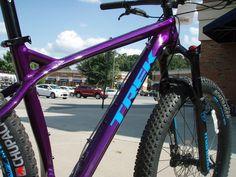 The Trek Stache 7 comes in a super cool metallic purple