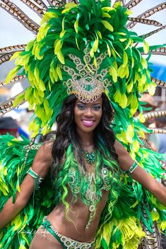Love the Colors & Feathers of this 'Mas for Trinidad Carnival