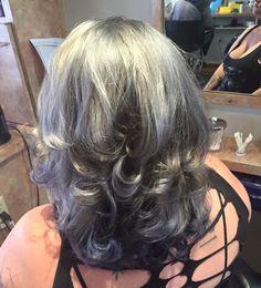 Silver hair by Kirstin @dollyquinnsalonspa in Tucsom AZ