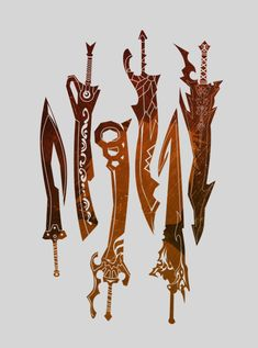 Click image to buy prints! Final Fantasy Weapons, Arte Final Fantasy, Final Fantasy Artwork, Final Fantasy Characters, Cool Swords, Anime Weapons, Weapon Concept Art, Buy Prints, Ruin